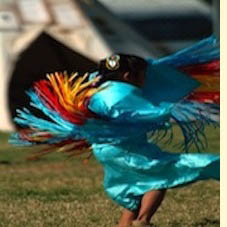 Native American child dancing
