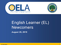 English Learner Newcomer Webinar Cover