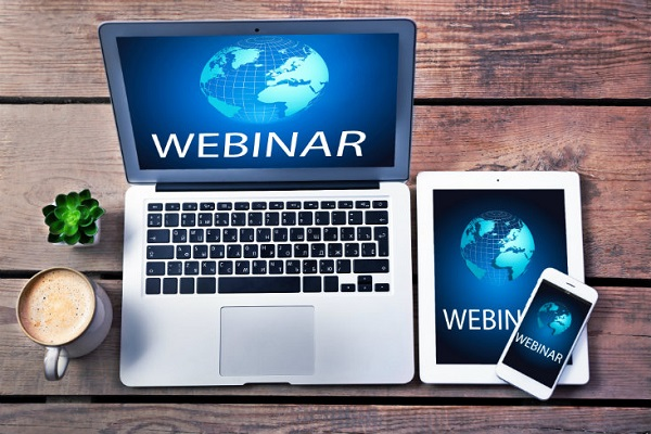 Webinar Banner image of computer, tablet, and phone