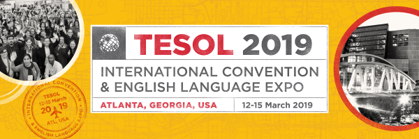 Banner promoting TESOL 2019, International Convention and English Language Expo
