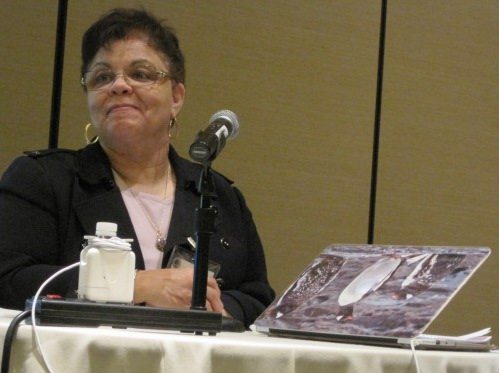 image of Charlene Green presenting at meeting