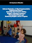 cover image of Exploring Approaches to Set English Language Proficiency Performance Criteria and Monitor English Learner Progress