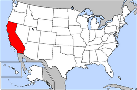 map showing location of california in the united states